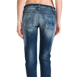 MOTHER The Dropout Cropped Straight Leg Jeans